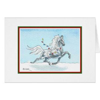 Lustige Weihnachtspferdekarte Grußkarte