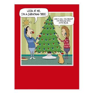 Lustige Weihnachtspostkarte: Schwache Birne Postkarte