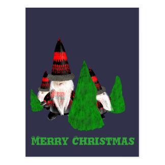 Lustige Weihnachtszwerge Postkarte