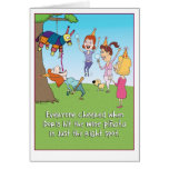 Lustige Weinpinata-Geburtstagskarte Karte