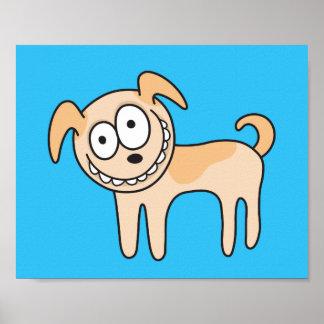 Lustige Welpenhundeniedliche KindertierCartoon auf Poster
