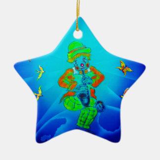 Lustige Welt Clown 2 Keramik Ornament