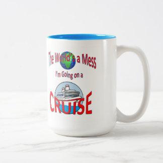 Lustige Welten eine Verwirrung gehen Kreuzfahrt Zweifarbige Tasse