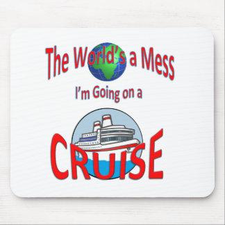 Lustige Welten eine Verwirrungs-Kreuzfahrt Mousepad