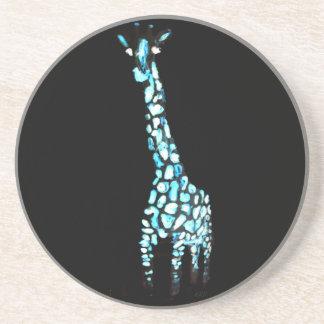 Lustige wildes Tier-schrullige abstrakte Giraffe Untersetzer