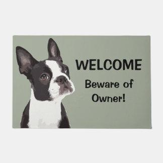 Lustige willkommene Tür-Matte Bostons Terrier Türmatte