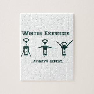 Lustige Winter-Übungen Puzzle
