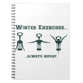 Lustige Winter-Übungen Spiral Notizblock