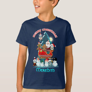 Lustige Winterurlaub-Szene T-Shirt