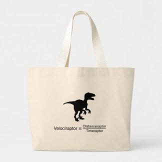 lustige Wissenschaft des Velociraptor Jumbo Stoffbeutel