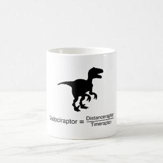 lustige Wissenschaft des Velociraptor Kaffeetasse