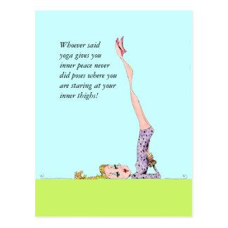 Lustige Yogapostkarte mit lustigem Yoga-Spaß! Postkarten