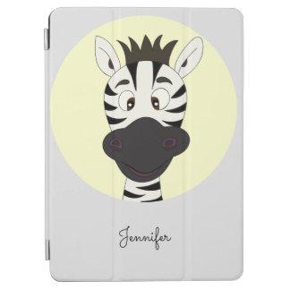 Lustige Zebra-Cartoongelb-Namenkinder iPad Air Hülle