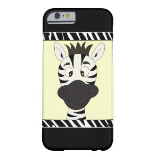 Lustige Zebra-Cartoonkinder Barely There iPhone 6 Hülle