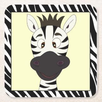 Lustige Zebra-Cartoonkinder Rechteckiger Pappuntersetzer