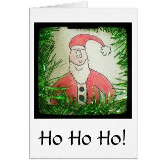 Lustige zeichnende Weihnachtskarte Sankt Karte