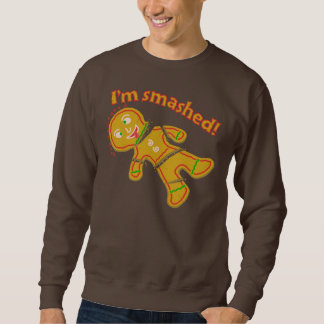 Lustige zertrümmerte Lebkuchen-hässliche Sweatshirt