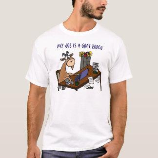 Lustige Ziege am T-Shirt