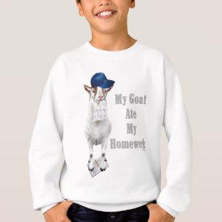 Lustige Ziege aß meine Hausaufgaben Sweatshirt