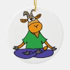 Lustige Ziege, die Lotus-Positions-Yoga tut Keramik Ornament