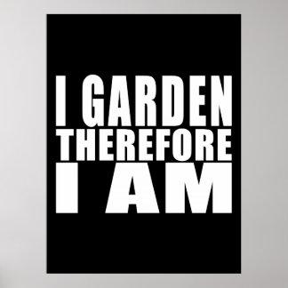 Lustige Zitat-Gartenarbeit: Ich arbeite deshalb