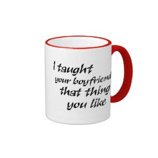 Lustige Zitatgeschenke für Frauenwitz-Spaß Ringer Tasse