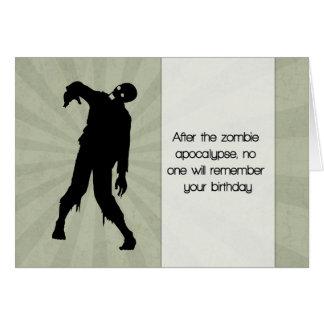 Lustige Zombie-Geburtstags-Karte mit Grußkarte