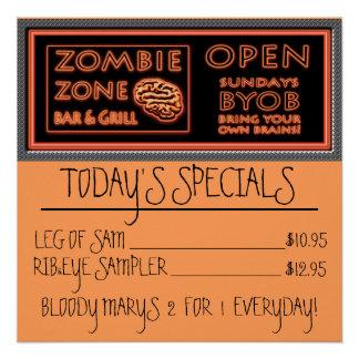 Lustige Zombie-Zone BYOB holen Ihre eigenen Poster