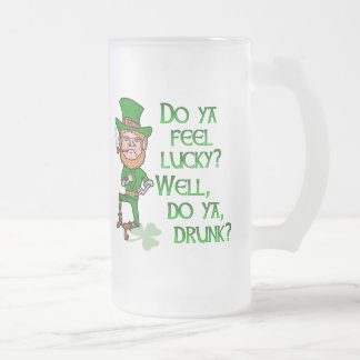 Lustigen Kobold-St Patrick Tag glücklich Mattglas Bierglas