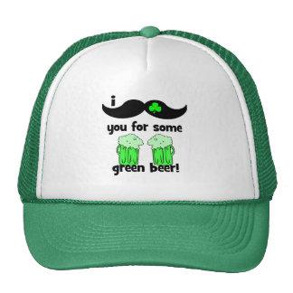 lustigen Schnurrbart St Patrick Tag Baseballkappe