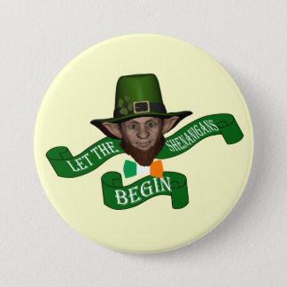 Lustigen Shenanigans St Patrick Tag Runder Button 7,6 Cm