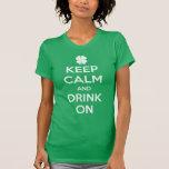 Lustigen St Patrick Tag behalten ruhiges T-Shirt