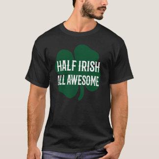 Lustigen St Patrick Tag halb irisch T-Shirt