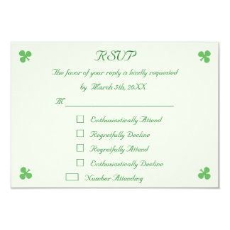 Lustigen St Patrick TagesParty UAWG 8,9 X 12,7 Cm Einladungskarte