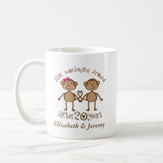 Lustiger 20. Hochzeits-Jahrestag sein ihrs Tassen