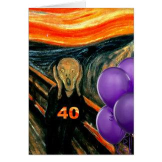 Lustiger 40. Geburtstag Grußkarte
