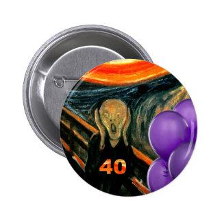 Lustiger 40. Geburtstag Runder Button 5,1 Cm
