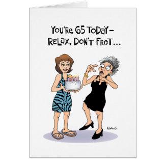 Lustiger 65. Geburtstag Karte