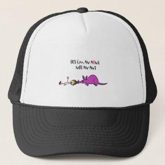 Lustiger Aardvark, der Ameisen-Cartoon Tante nicht Truckerkappe