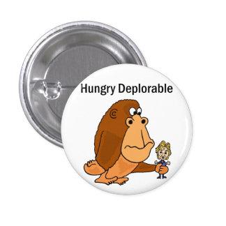 Lustiger Affe, der politischen Cartoon Hillary Runder Button 2,5 Cm