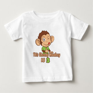 Lustiger Affe Geburtstag mit 3-Jährigen Baby T-shirt