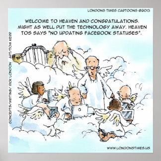 Lustiger Aktualisierung facebook Status im Poster