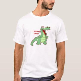 Lustiger Alligator heute gekackt T-Shirt