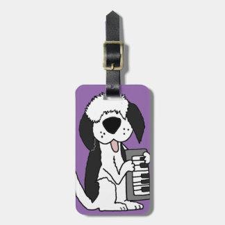 Lustiger alter englischer Schäferhund, der Gepäckanhänger