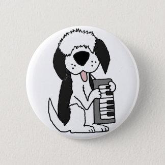 Lustiger alter englischer Schäferhund, der Runder Button 5,1 Cm