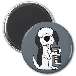 Lustiger alter englischer Schäferhund, der Runder Magnet 5,1 Cm