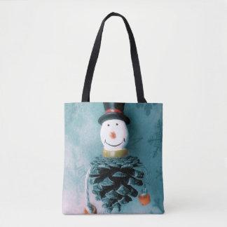 Lustiger alter Schneemann Tasche