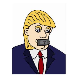 Lustiger Antipolitischer Cartoon donald Trump Postkarte