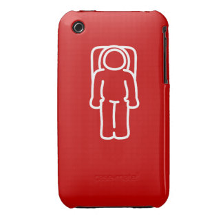 Lustiger Astronaut rotes Case1 iPhone 3 Case-Mate Hülle