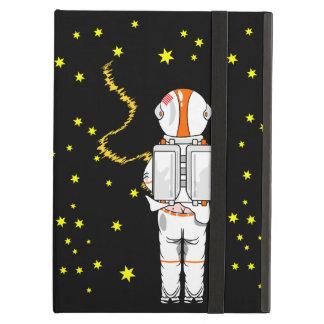 Lustiger Astronaut Weeing an der Schwerelosigkeit